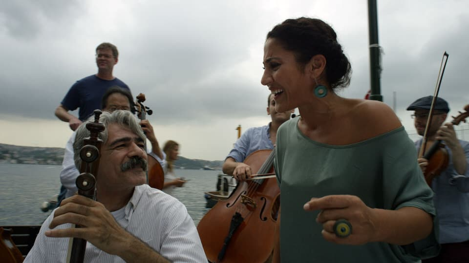 Kaykhan Kahlor, an Iranian Kamancheh player and one of five main subjects of the film