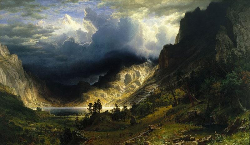 Albert Bierstadt, A Storm in the Rocky Mountains, Mt. Rosalie, 1866