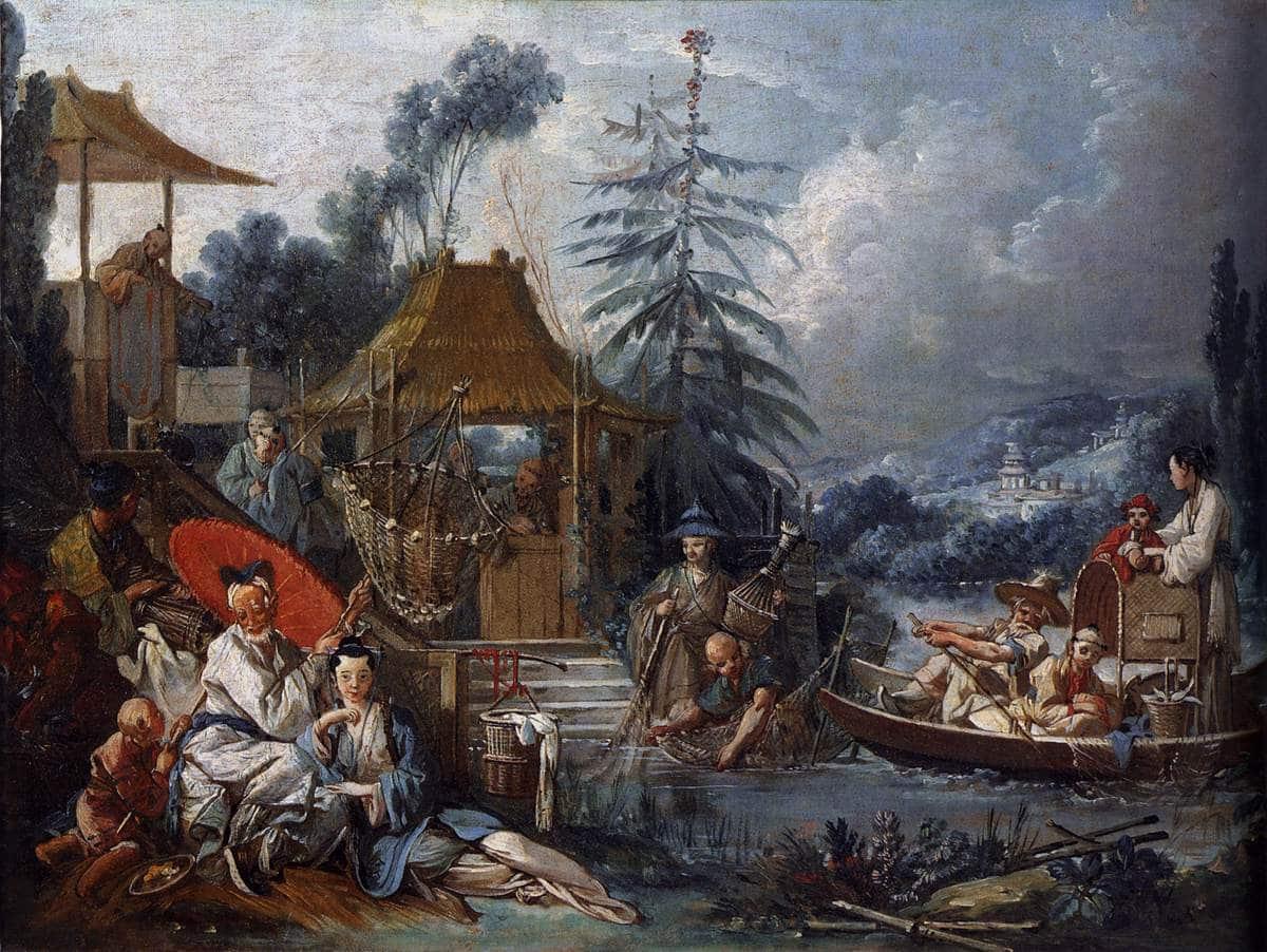 La Pêche chinoise;François Boucher, 1742