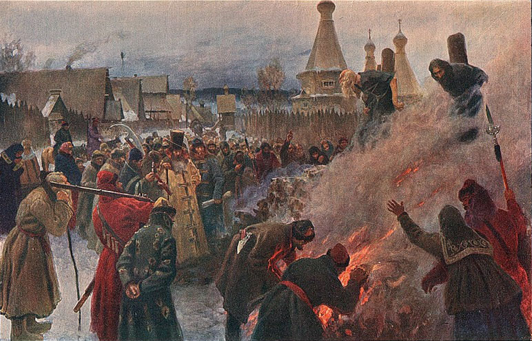 Grigoriy Myasoyedov, The Burning of Protopope Avvakum, 1897