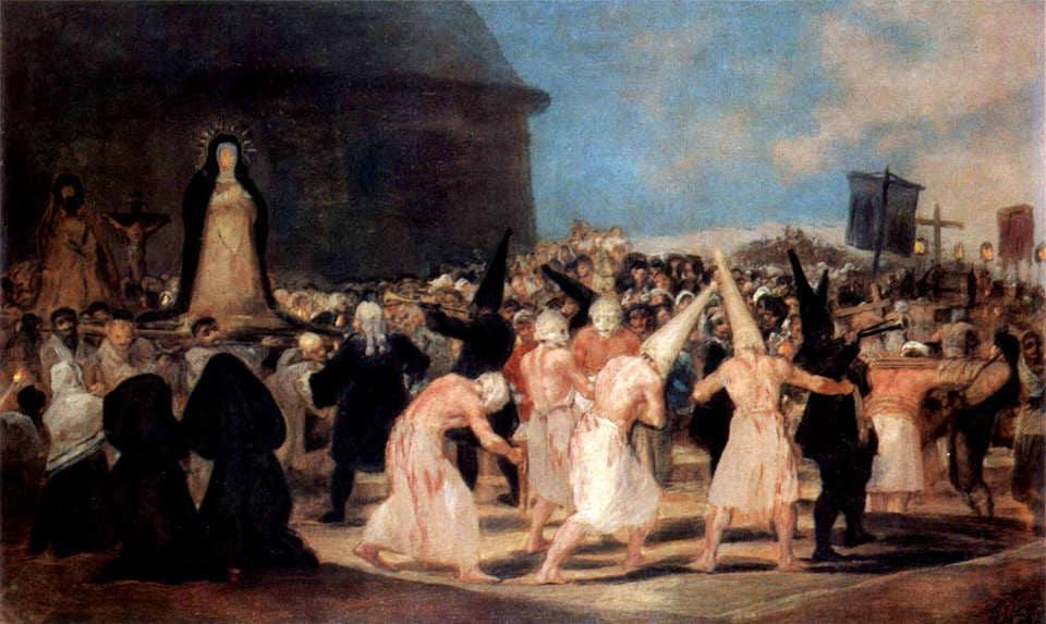 Francisco de Goya y Lucientes, A Procession of Flagellants, 1812-1819