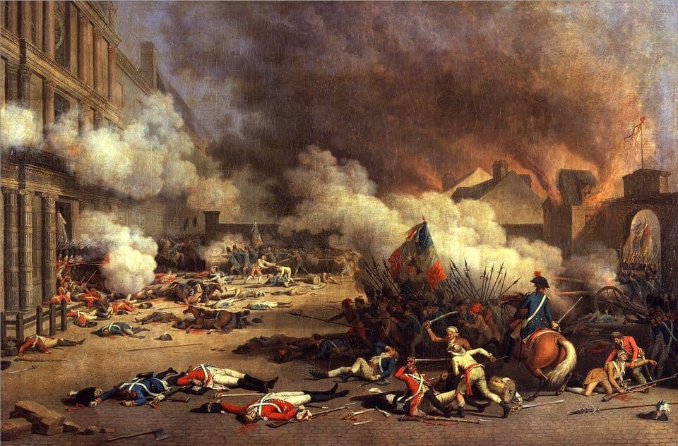 Jean Duplessis-Bertaux, Storming of the Tuilieres on 10. Aug. 1972 During the French Revolution, 1793