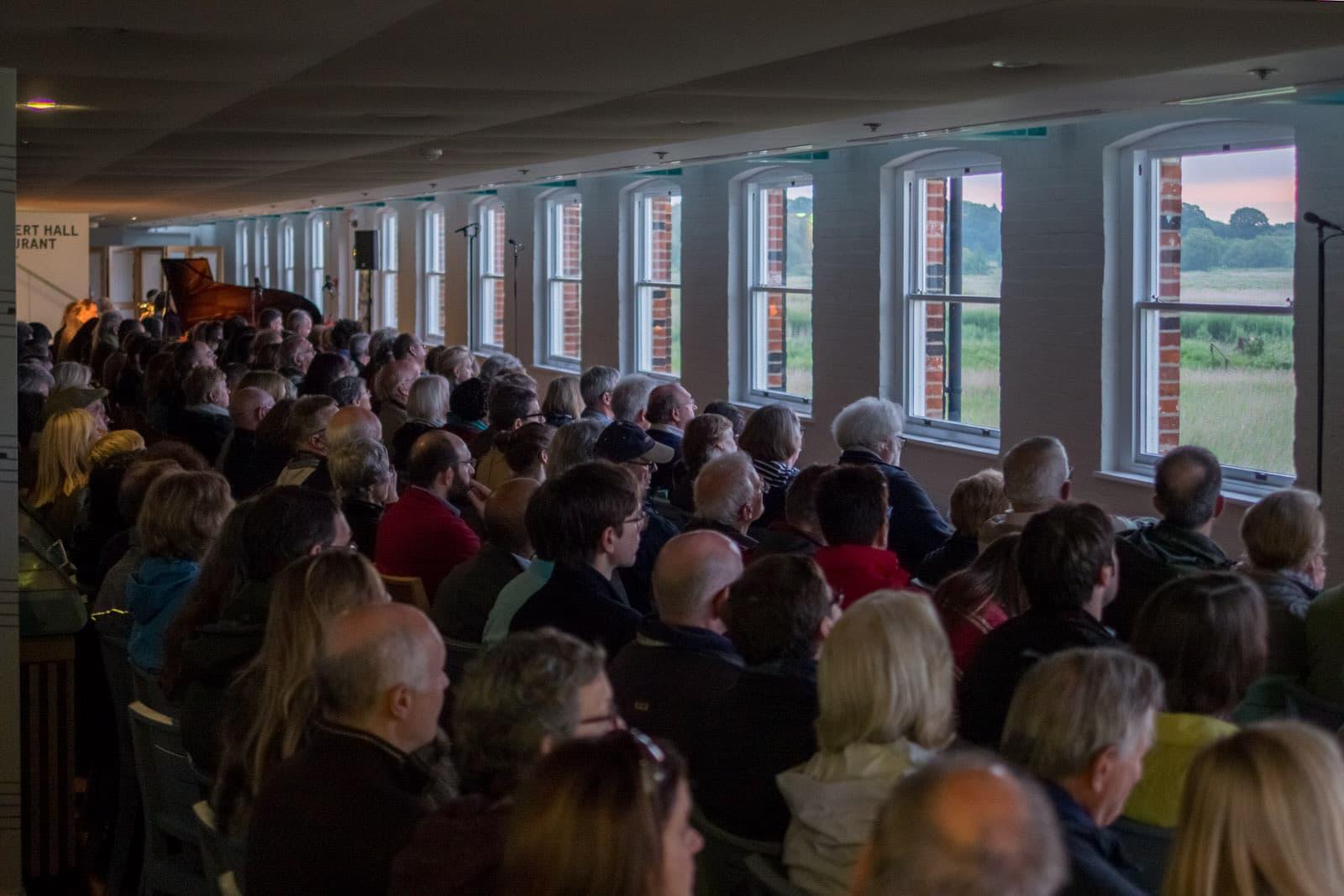 The audience at the dawn chorus · PhotoSam Murray-Sutton