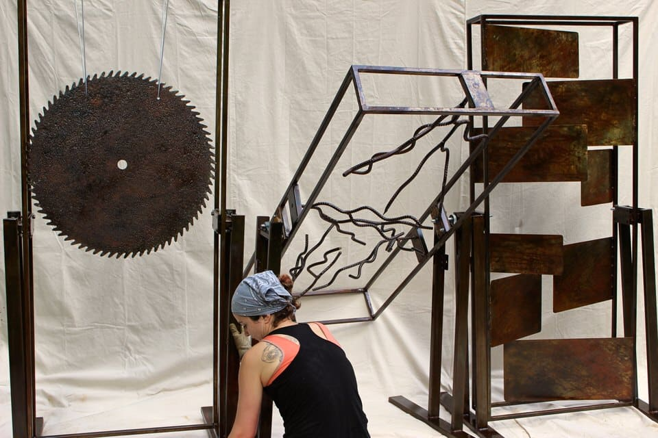 This modular sculpture was co-created with Steven Pierce. In the fall, theCoalescence Percussion Duowill be playing it atArt Prizein Grand Rapids, Michigan •PhotoSteven Pierce