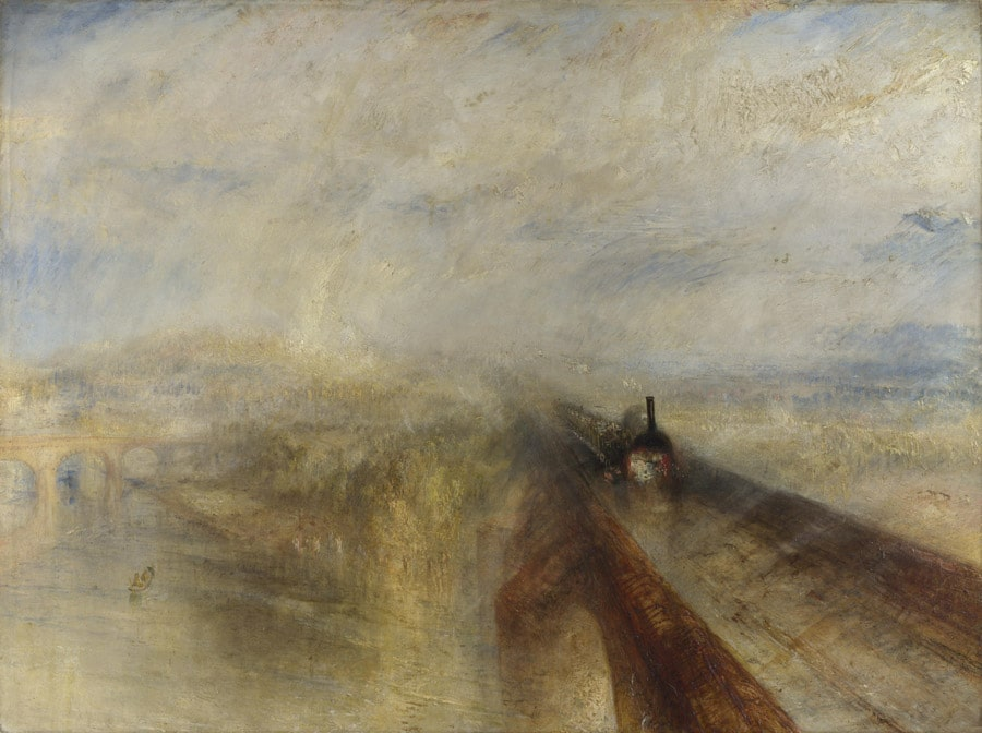 "JMW Turner, ""Rain Steam, and Speed""Image· Public Domain"