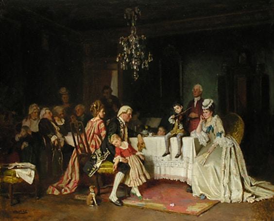 """Gabriel von Hackl,""""Das Wunderkind"""" (1874)"""