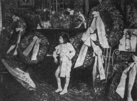 "LORIS MARGARITIS, AGE EIGHT, AT A CONCERTIN MUNICH(1903). THOMAS MANN SAW HIM LIVE, INSPIRINGTHE SHORT STORY ""THE INFANT PRODIGY."""
