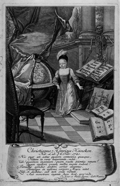 """Johann Balthasar Probst, """"Stich vonChristian Heinrich Heineken"""" (1721–1725). He was known as the """"prodigy from Lübeck."""""""