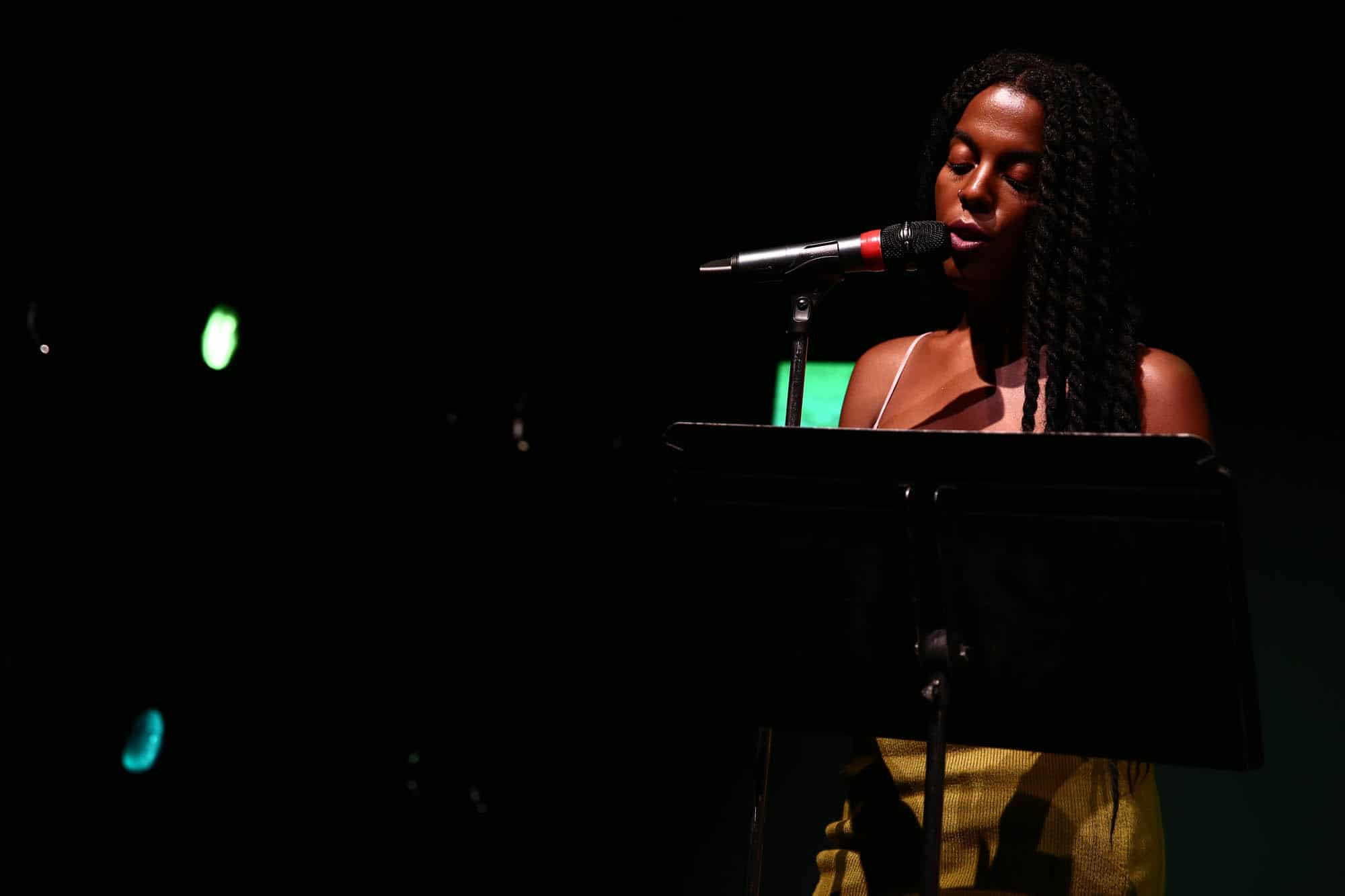 """Juliana Huxtable at a performance of """"Dichterliebe/Divine Bitches"""" at The Kitchen."""