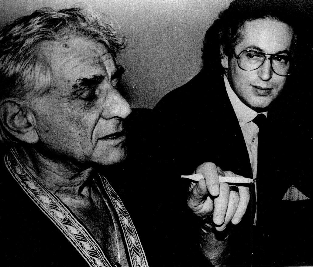 Leonard Bernstein and Thomas Sanderling •PhotoUnknown