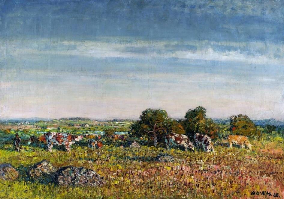 Landscape with cattle •Stanislav Lolek, 1925 (PD)
