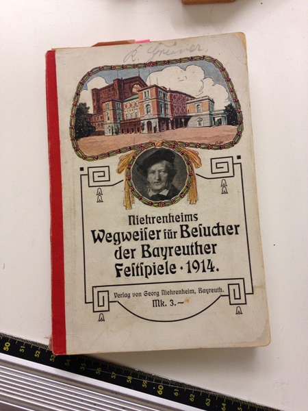 A Bayreuth Festival program from 1914, in the collection of the Schwules Museum •PhotoJeffrey Arlo Brown