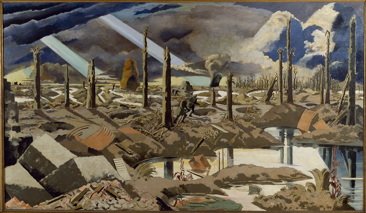 Paul Nash English: The Menin Road (Public Domain)
