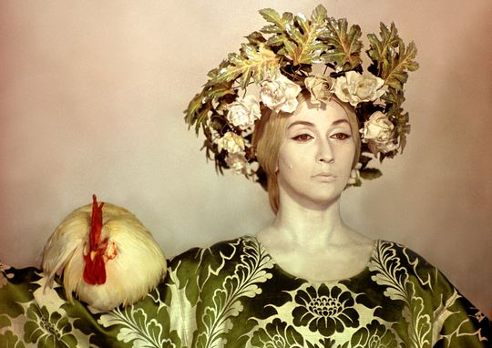 """A still from Sergei Parajanov's film """"The Color of Pomegranates"""""""