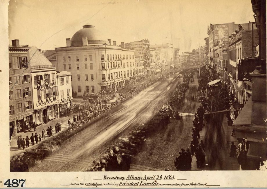 The funeral procession for President Lincoln in Albany, New York, on April 26, 1865 •PhotoPublic Domain