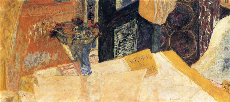 """Pierre Bonnard, """"Still Life with Flowers or the Venus of Cyrene"""""""