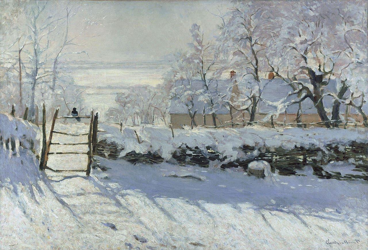 PictureThe Magpie byClaude Monet (Public Domain)