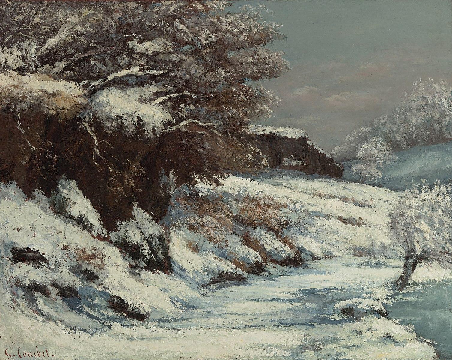 PictureEffet de neige byGustave Courbet (Public Domain)