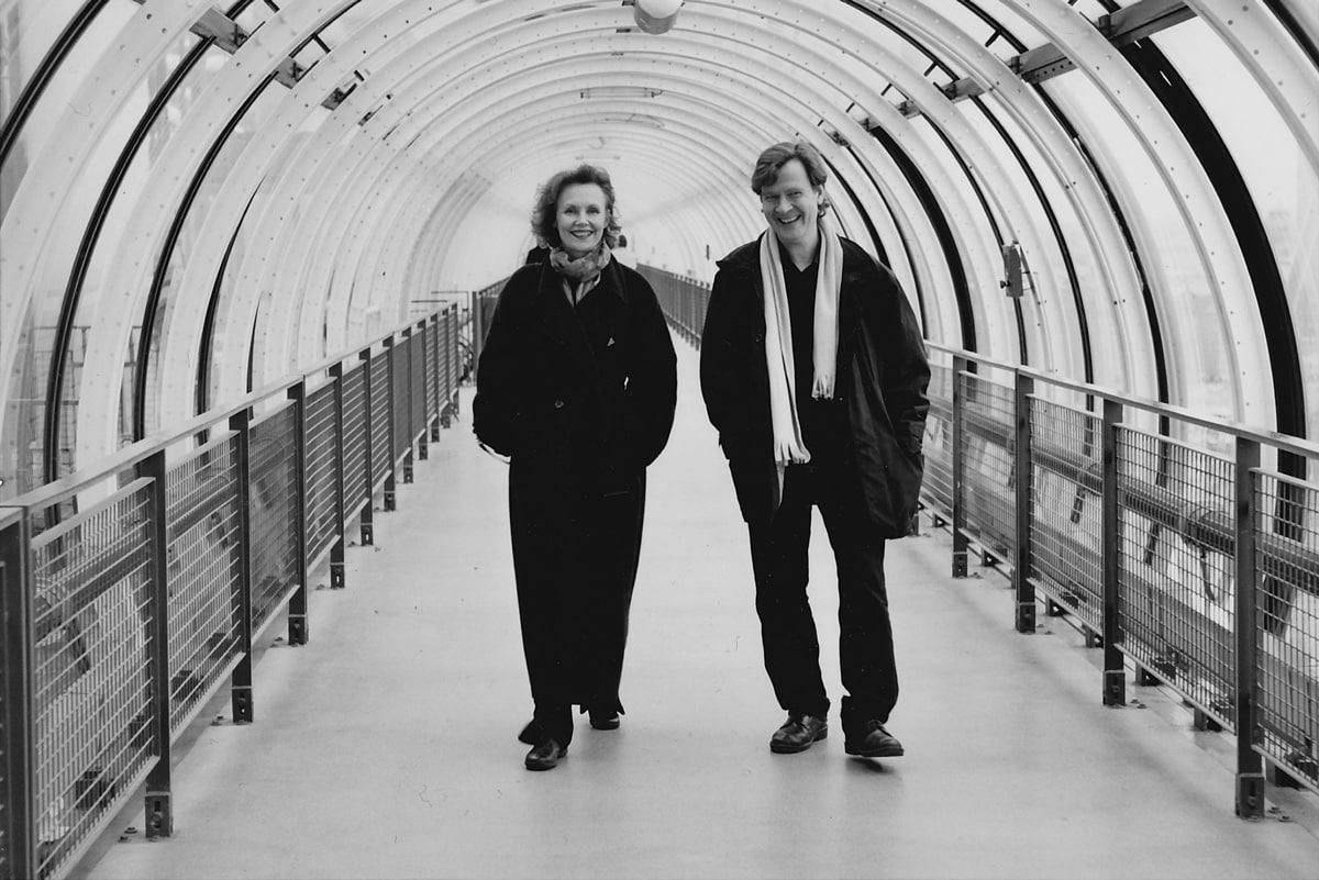 With Magnus Lindberg at the Pompidou Centre, Paris in 2002•Photo©Kaija Saariaho