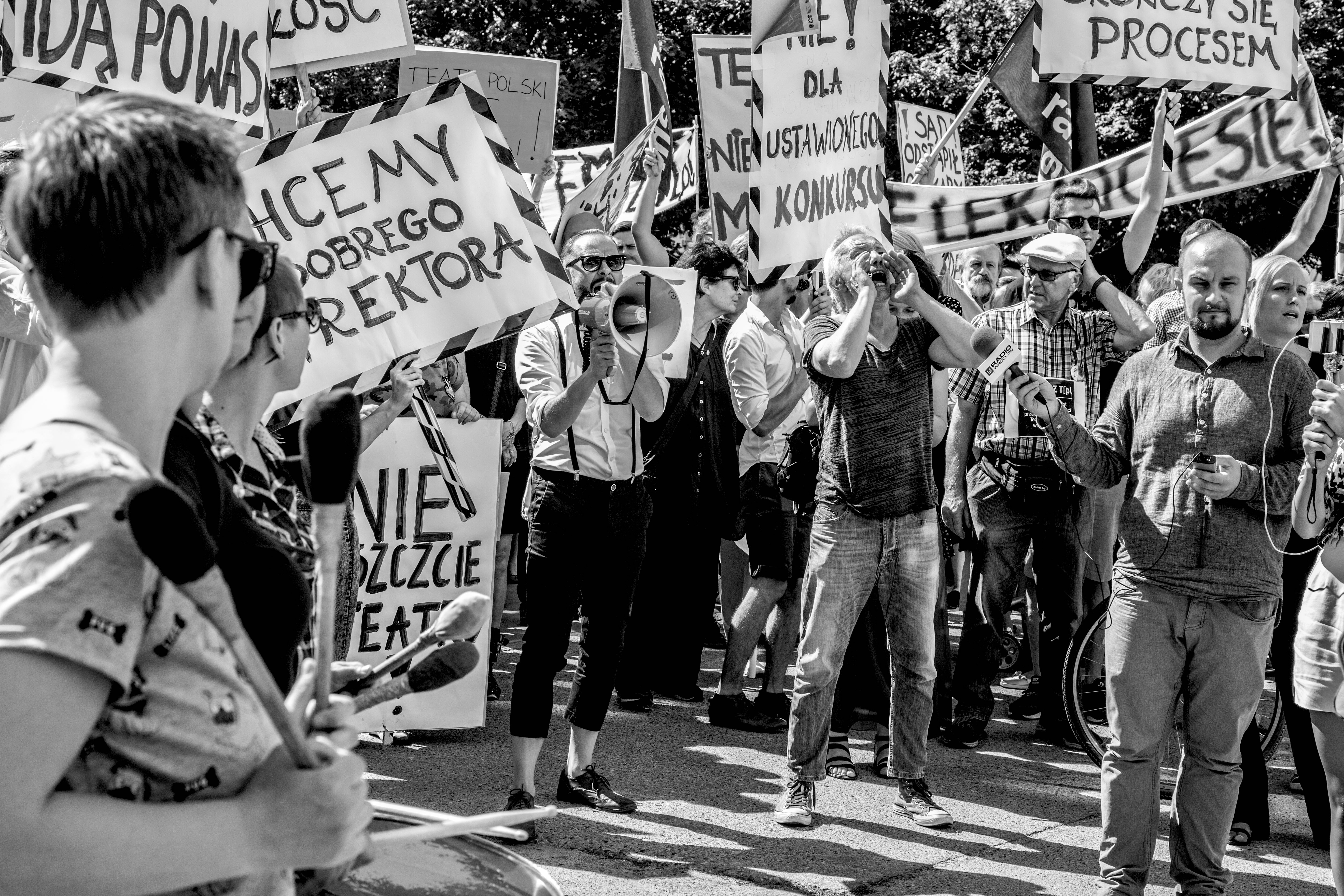 Protests against the changes to the Teatr Polskiin Wrocław, August 2016.Photo© Natalia Kabanow