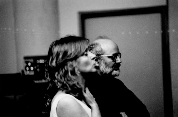 """Joan La Barbar and Subotnick during the recording of """"Jacob's Room"""" for Wergo Records •Photo ©Curtis Roads"""
