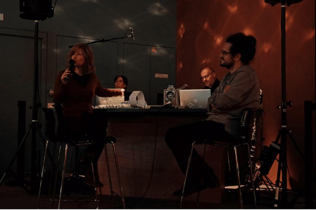 With Clément Lebrun, Emmanuelle Ophèle, Alain Billard at the Gaîté lyrique •PhotoLuc Hossepied