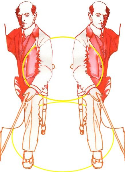 Cellist Pablo Casals illustration