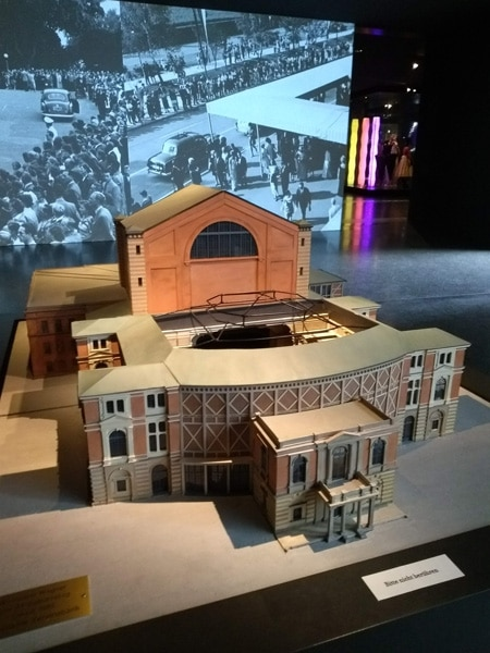 A model of the Festpielhaus from the Richard Wagner Museum •PhotoAlison Kinney